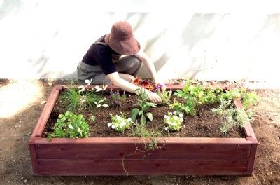 レイズドベッド、フレーム、簡単、花壇作り、木製